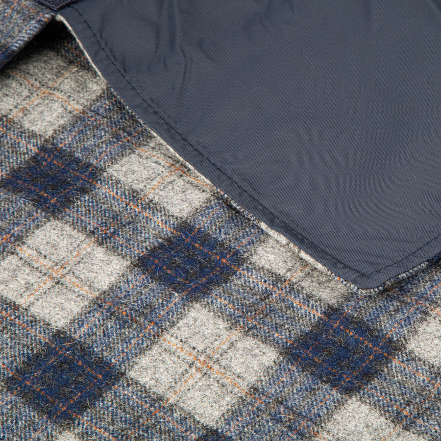 The Little Explorer - Navy Blue Block Check Tweed