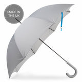 "British City Slim Umbrella- Grey & Blue | Parapluie Anglais "" City Slim"" - Gris & Bleu"