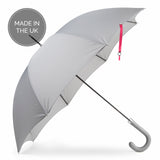 British City Slim Umbrella- Grey & Pink | Parapluie Anglais