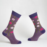 City Flower dress socks / Ultraviolet | Chaussettes City Flower / Ultraviolet
