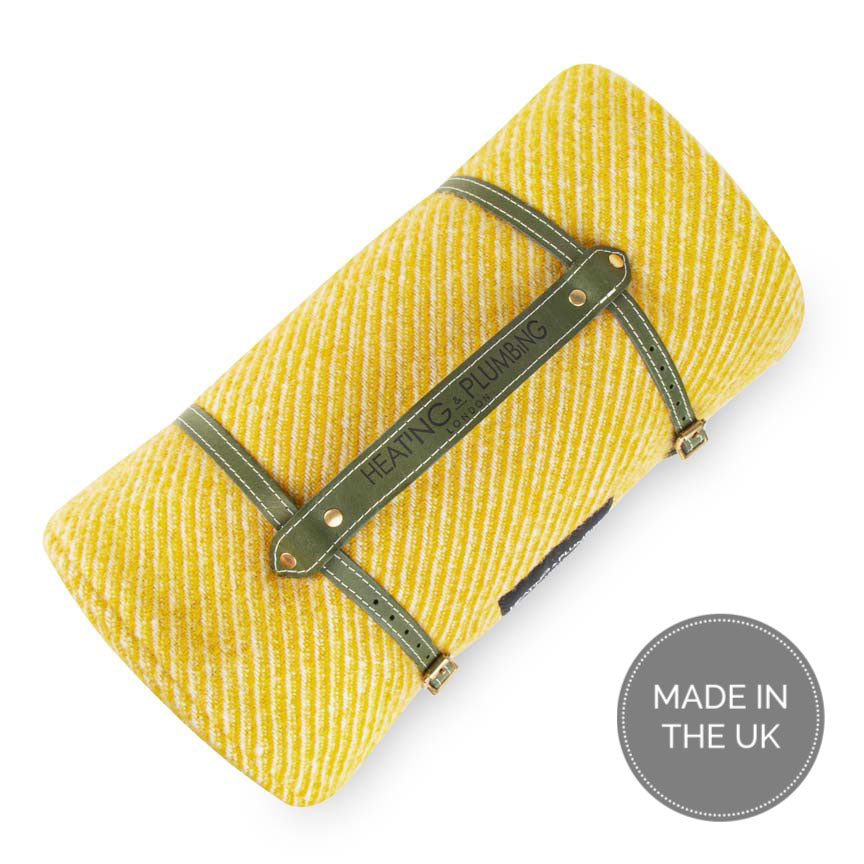Pure new wool waterproof picnic blanket - Sunny Afternoons