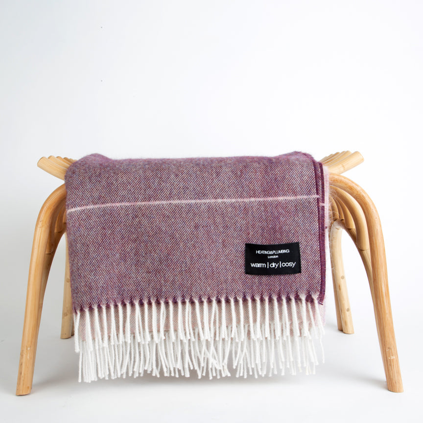 Alpaca throw - Purple