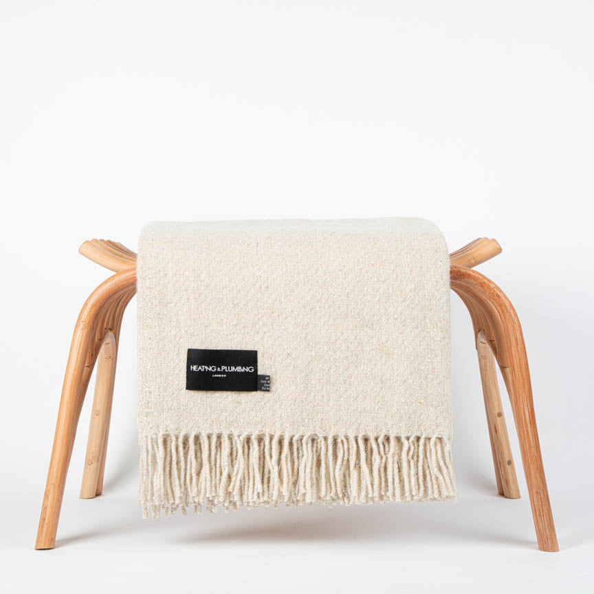 Recycled Wool Blanket Ivory