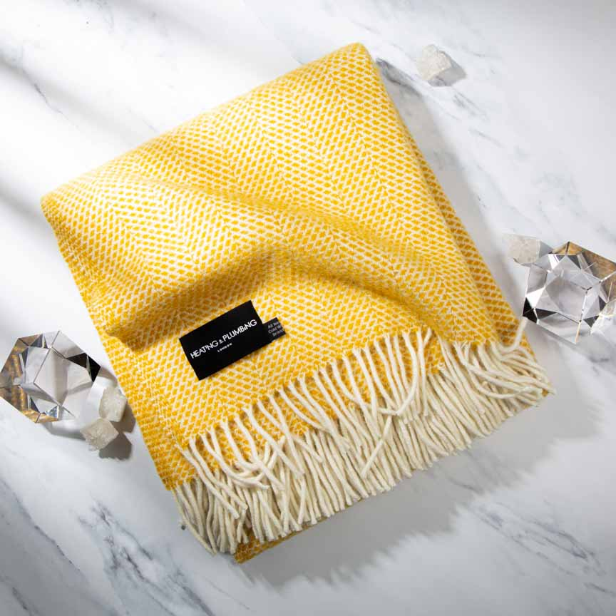 Fluffy Yellow Throw