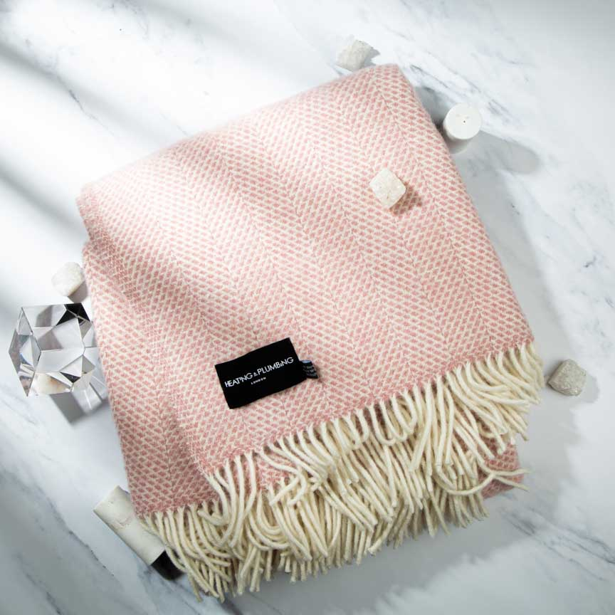 Fluffy Pink Throw