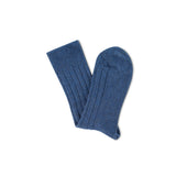 Luxury lounge socks in British alpaca - Blue | Chaussettes Lounge en alpaga - Bleu