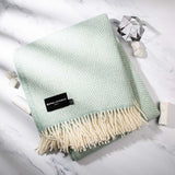 Soft Mint Blue Throw for bedroom and garden