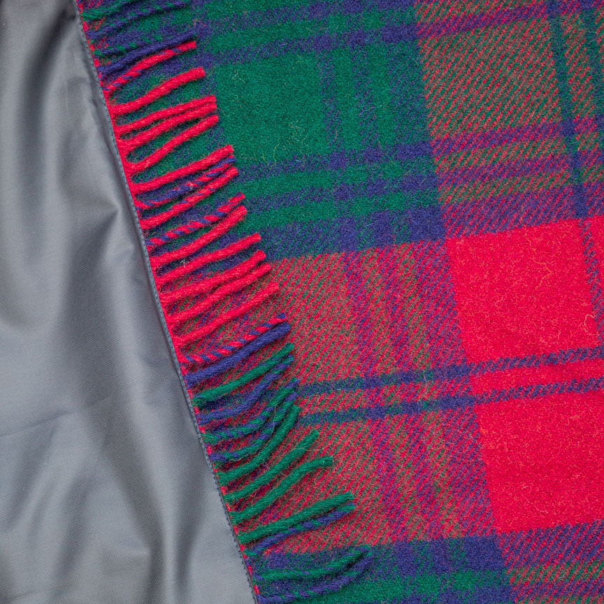 Pure new wool waterproof picnic blanket - Highland Dream