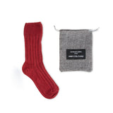 Luxury lounge socks in British alpaca - Wine | Chaussettes Lounge en alpaga - Couleur Vin