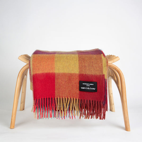 Alpaca throw - Bright Coloured checks