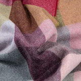 alpaca throw in in soft shades of pink for country living