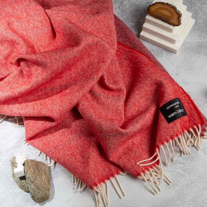 Wonderland - Alpaca & Merino Lambswool Blanket - Red