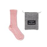 Luxury lounge socks in alpaca - Light pink | Chaussettes Lounge en alpaga - Rose