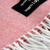 Wonderfully soft Merino Lambswool Throw - Coral