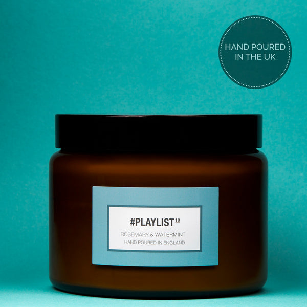 #Playlist - Rosemary & Watermint Luxury Candle - 500 ml