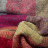 alpaca throw in shades of red and wine