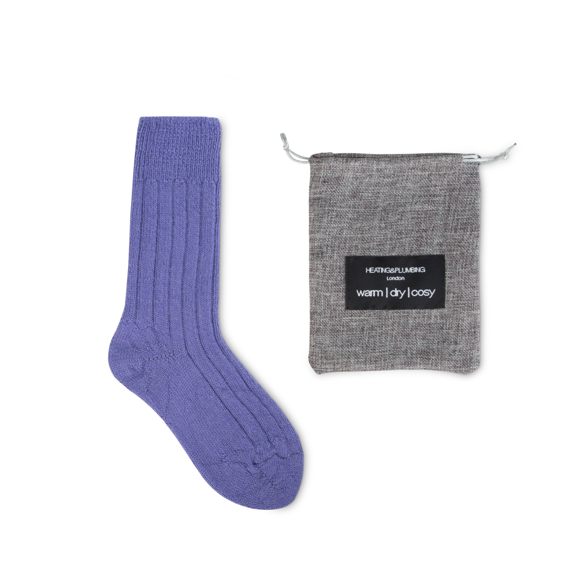 Luxury lounge socks in British alpaca - Lilac | Chaussettes Lounge en alpaga - Lilas