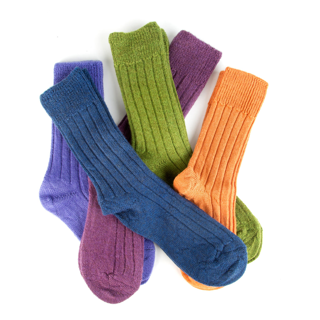 Luxury lounge socks in alpaca - Orange | Chaussettes Lounge en alpaga - Orange