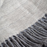 Irish Linen & Merino wool reversible throw - Grey