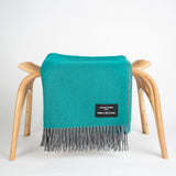 Daydreams - Merino Lambswool Throw - Deep Sea Green
