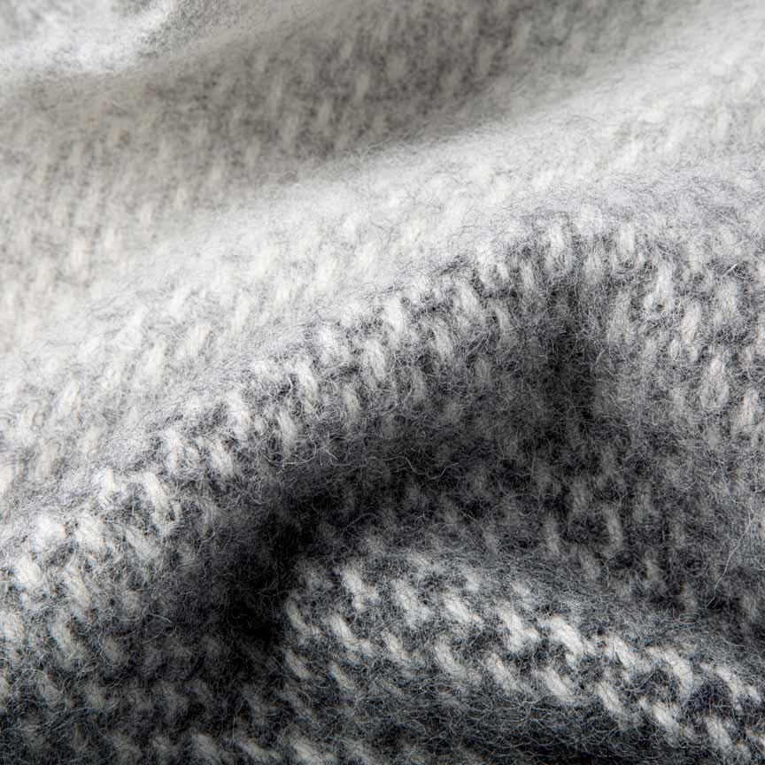 Luxury fluffy and soft grey blanket