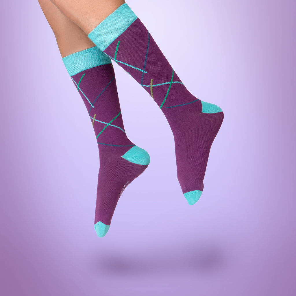 Eye Candy dress socks / Purple | Chaussettes Eye Candy / Violette