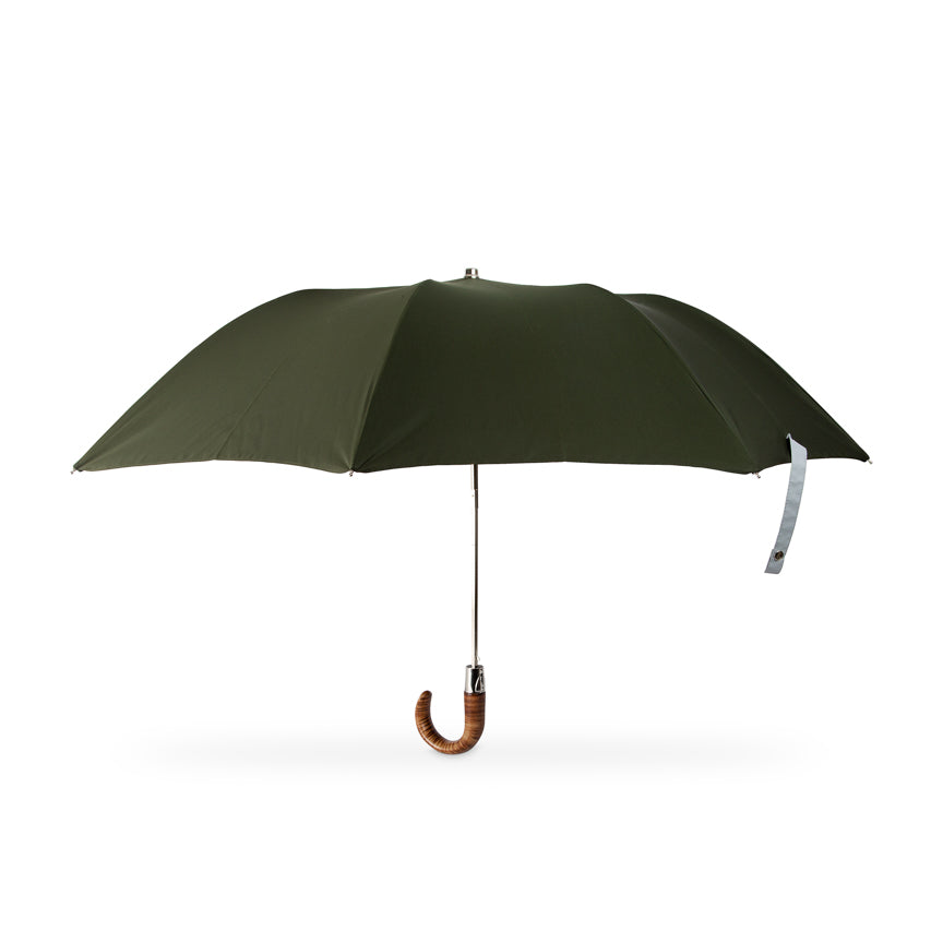 British Folding Umbrella  - Racing Green/Grey | Parapluie Anglais Pliant - Vert/Gris