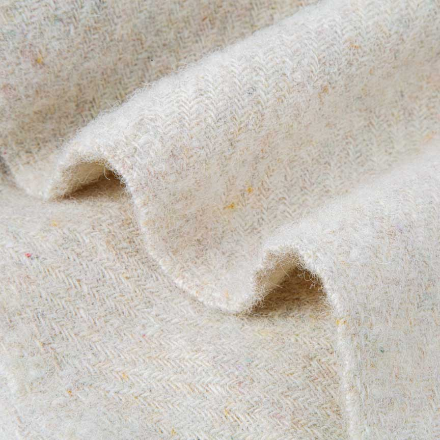 Evening Tales - 50% Recycled Wool & 50%  New Wool Blanket - Ivory