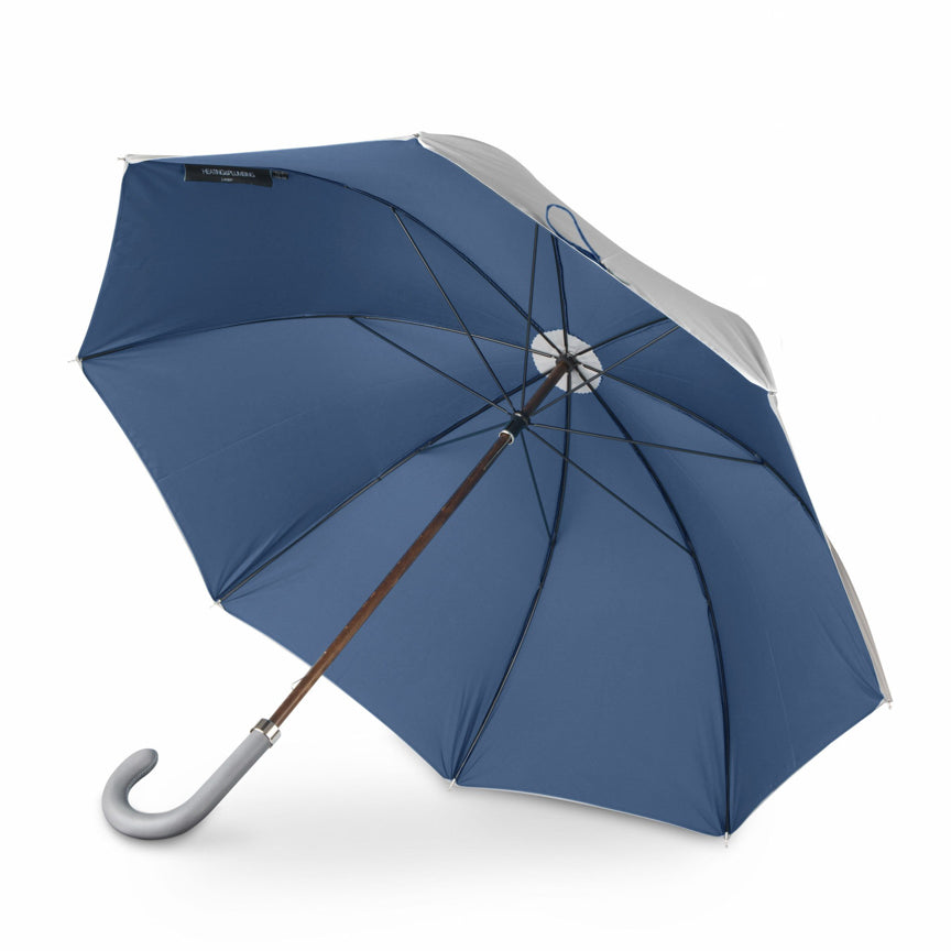 Grey and Mallard British luxury umbrella