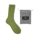 Luxury lounge socks in British alpaca - Green | Chaussettes Lounge en alpaga - Vert