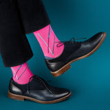 Eye Candy dress socks / Pink | Chaussettes Eye Candy / Rose
