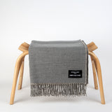 Summer Nights - Irish Linen & Merino wool Blanket - Grey