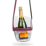 """Keep Your Cool"" Champagne Bucket - Purple Leather strap 