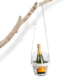 """Keep Your Cool"" Champagne Bucket - White Leather strap 