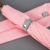 British Folding Umbrella  - Pink/Grey | Parapluie Anglais Pliant - Rose/Gris