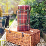 Pure new wool waterproof picnic blanket - The Classic Windsor