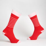 Hello Sailor! dress socks / Red & Pink | Chaussettes Hello Sailor! / Rouges & Roses