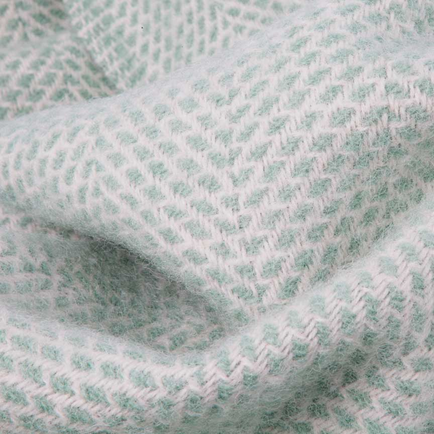 mint blue pure new wool throw