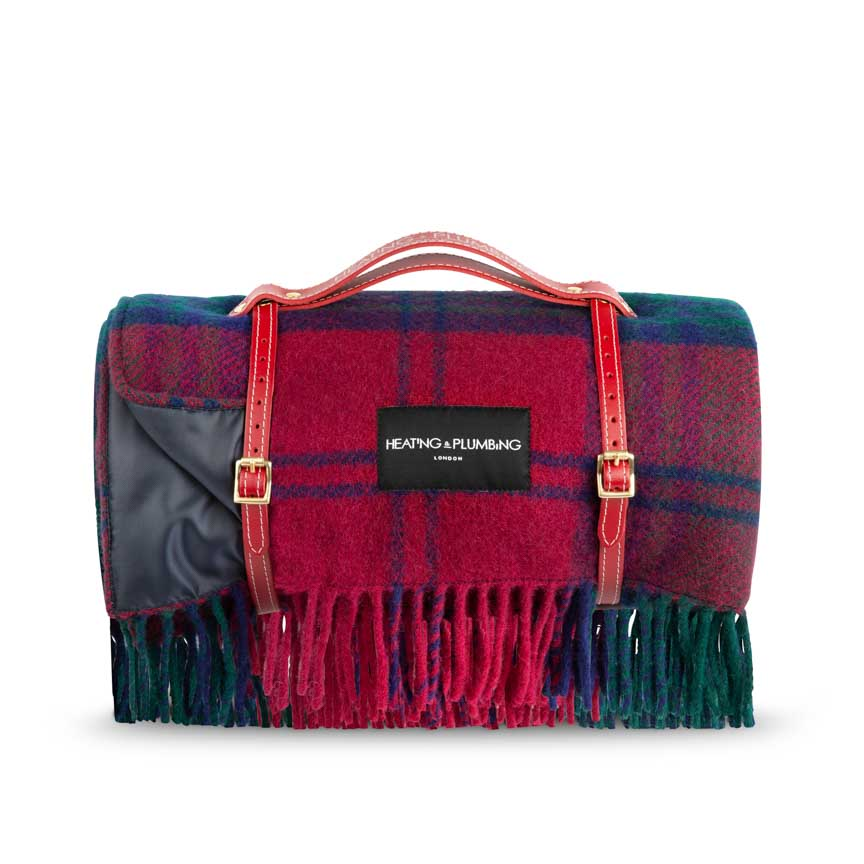 Classic Scottish design picnic blanket