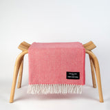 Daydreams - Merino Lambswool Throw - Coral