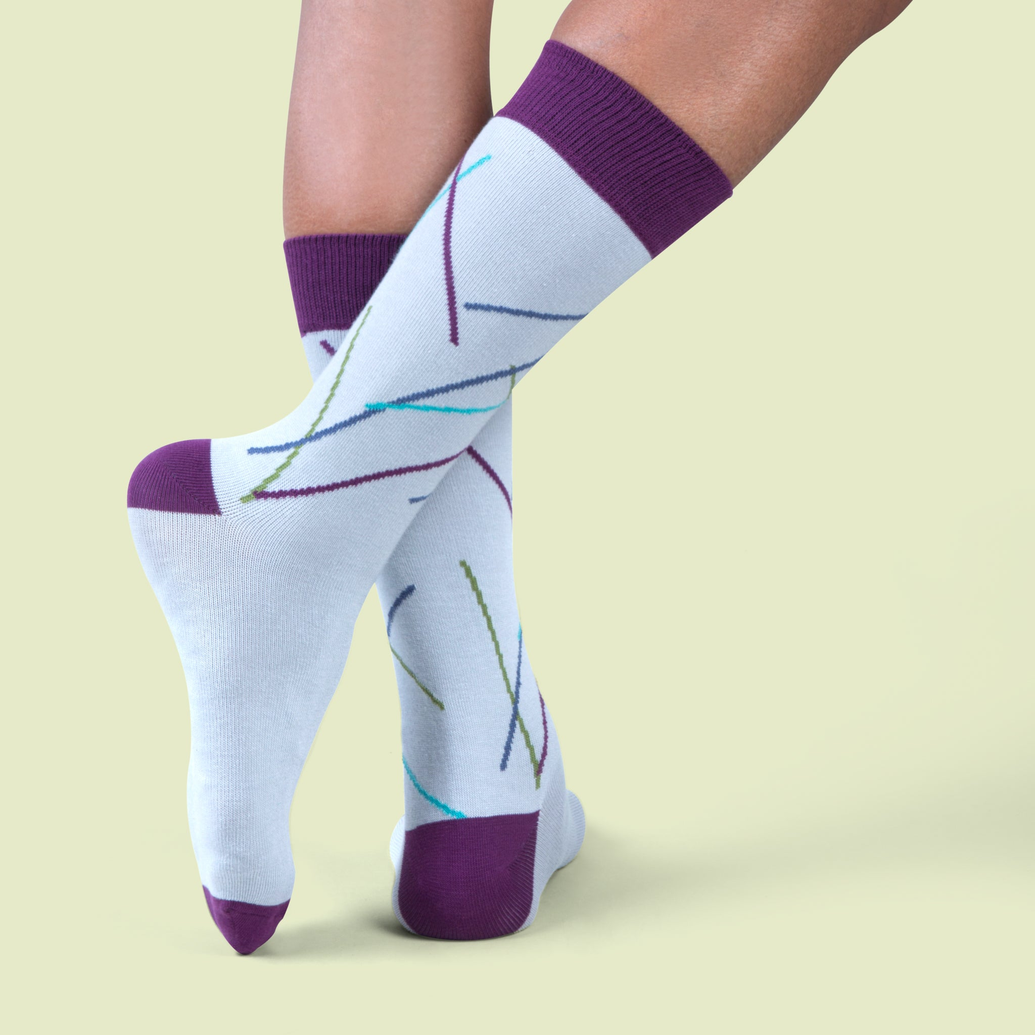 Eye Candy dress socks / Light grey | Chaussettes Eye Candy / Gris clair