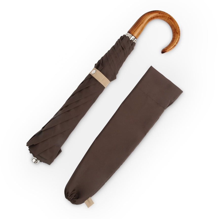 brown and sand folding umbrellas