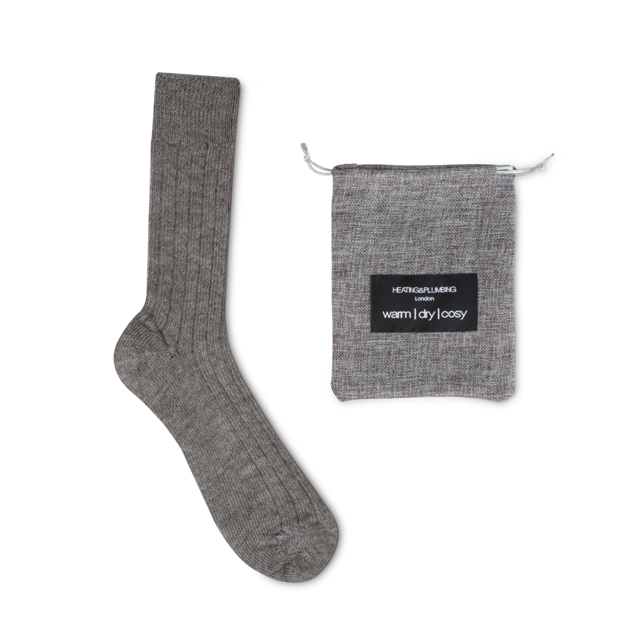 Luxury Lounge socks in alpaca - Grey | Chaussettes Lounge en alpaga - Gris