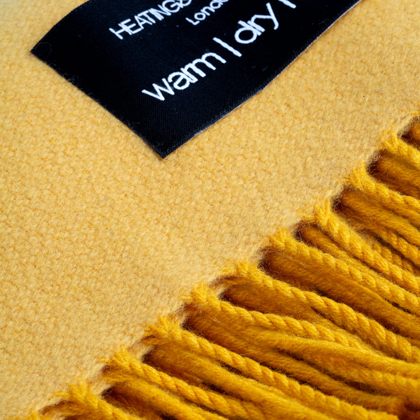 Daydreams - Merino Lambswool Throw - Sunflower Yellow