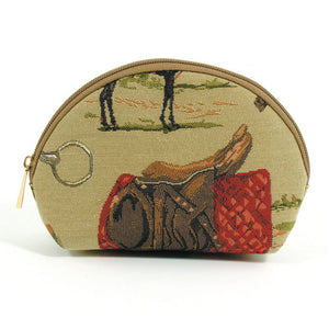Cosmetic Case, Horse Tapestry