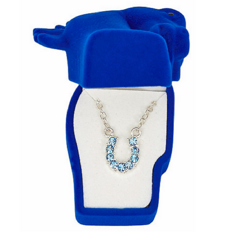 AWST Rhinestone Horseshoe Necklace