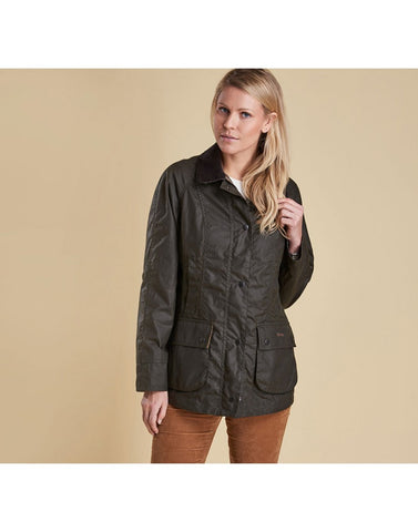 Barbour Beadnell Wax Jacket - Olive