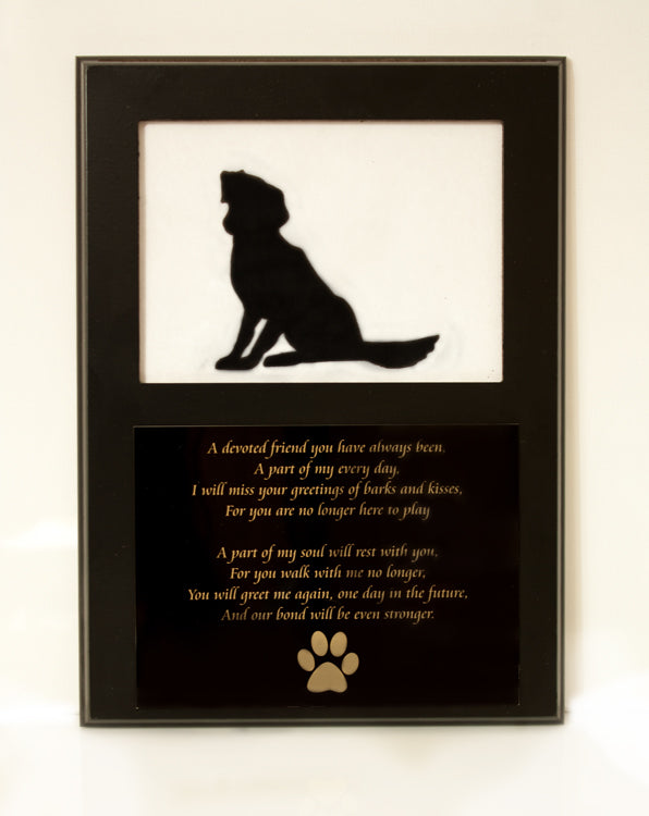 Dog Memorial Picture Frame 5x7