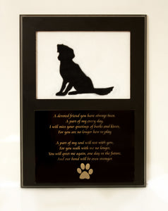 DBL Dog Memorial Picture Frame 5x7