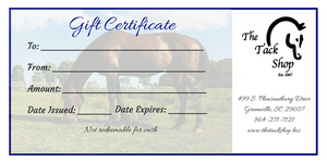The Tack Shop Gift Certificate
